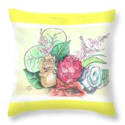 Roses On A Birthday Throw Pillow