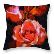 Roses Painted And Drawn Throw Pillow