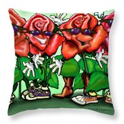 Roses Party Throw Pillow