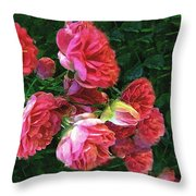 Roses Roses Throw Pillow