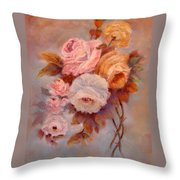 Roses Study Throw Pillow