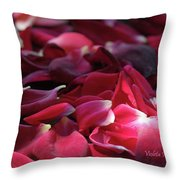 Rose Waves Throw Pillow