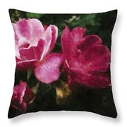 Roses With Texture Throw Pillow