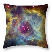 Rosette Nebula Ngc 2244 In Monoceros Throw Pillow