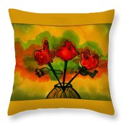 Rosey Afternoon Throw Pillow