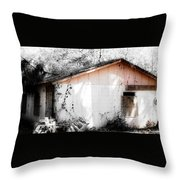 Rosey Hues Of Emptiness Throw Pillow