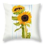 Rosezella's Sunflowers II Throw Pillow