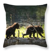 Rosie And Cubs Throw Pillow