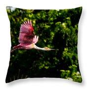 Rosie In Flight Throw Pillow