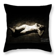 Rosie Nude Fine Art Print In Sensual Sexy 4610.01 Throw Pillow