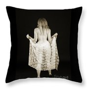 Rosie Nude Fine Art Print In Sensual Sexy 4613.01 Throw Pillow
