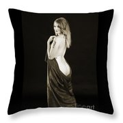 Rosie Nude Fine Art Print In Sensual Sexy 4617.01 Throw Pillow
