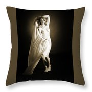 Rosie Nude Fine Art Print In Sensual Sexy 4623.01 Throw Pillow