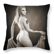 Rosie Nude Fine Art Print In Sensual Sexy 4634.01 Throw Pillow