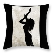 Rosie Nude Fine Art Print In Sensual Sexy 4639.01 Throw Pillow