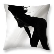 Rosie Nude Fine Art Print In Sensual Sexy 4640.01 Throw Pillow