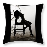 Rosie Nude Fine Art Print In Sensual Sexy 4649.01 Throw Pillow