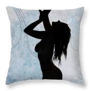 Rosie Nude Fine Art Print In Sensual Sexy Color 4686.02 Throw Pillow