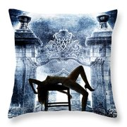 Rosie Nude Fine Art Print In Sensual Sexy Color 4688.02 Throw Pillow