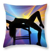 Rosie Nude Fine Art Print In Sensual Sexy Color 4689.02 Throw Pillow