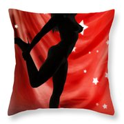 Rosie Nude Fine Art Print In Sensual Sexy Color 4690.02 Throw Pillow