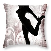 Rosie Nude Fine Art Print In Sensual Sexy Color 4691.02 Throw Pillow
