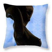 Rosie Nude Fine Art Print In Sensual Sexy Color 4693.02 Throw Pillow