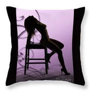 Rosie Nude Fine Art Print In Sensual Sexy Color 4696.02 Throw Pillow