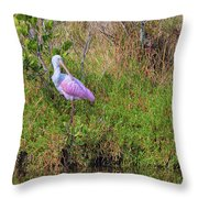 Rosie The Spoonbill Throw Pillow
