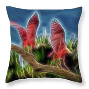 Rosies On Fire Throw Pillow