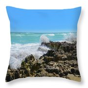 Ross Witham Beach Hutchinson Island Florida Throw Pillow