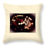 Rosses On A Flowing Dish Throw Pillow