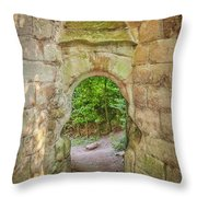 Rosslyn Castle Forest Entry Throw Pillow