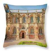 Rosslyn Chapel Panorama Throw Pillow