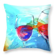 Rosso Nel Blue Throw Pillow