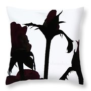 Rosy Chocolate Fireworks Throw Pillow
