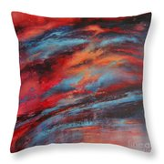 Rosy Glow Throw Pillow