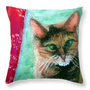 Rosy In Color Close-up Throw Pillow