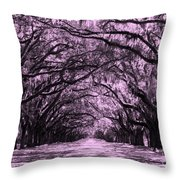 Rosy Road Throw Pillow