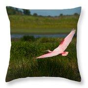 Rosy Soar 61 Throw Pillow