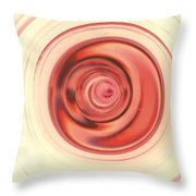 Rosy Throw Pillow