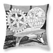 Rotary International  Throw Pillow