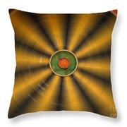 Rotating Dartboard Throw Pillow by Yali Shi