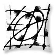 Rotation Axis Throw Pillow