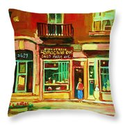 Rothchilds Jewellers On Park Avenue Throw Pillow