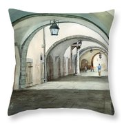 Rothenburg Backstreet Throw Pillow