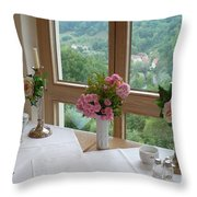 Rothenburg Dining With A View Throw Pillow
