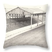 Rotherham - Millmoor - Millmoor Lane Stand 1 - Bw - April 1970 Throw Pillow