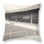 Rotherham - Millmoor - Railway End 1 - Bw - April 1970 Throw Pillow