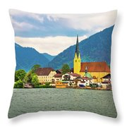 Rottach Egern On Tegernsee Architecture And Nature View Throw Pillow